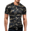 Male 2017 Brand Short Sleeve Camouflage Hole T Shirt V-Neck Slim Men T-Shirt Tops Fashion Mens Tee Shirt T Shirts 2XL slim plain hole round neck mens t shirt
