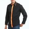 Brand 2017 Fashion Male Shirt Long-Sleeves Tops High Quality Casual Shirt Mens Dress Shirts Slim Men Shirt
