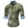 Brand 2017 Fashion Male Shirt Long-Sleeves Tops Psychedelic 3D Printing High Quality Mens Dress Shirts Slim Men Shirt