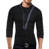 Male 2017 Brand Long Sleeve Button Stitch T Shirt Collar Slim Men T-Shirt Tops Fashion Mens Tee Shirt T Shirts XXXL WJIGY