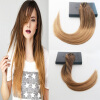 Straight Hair #4#27#10 Ombre Balayage Color 7Pcs 100G Full Set Clip On Hair Extensions 100% Brazilian Human Hair american pride hair 18 8pcs 100g straight clip in hair extension full head set 100% indian virgin human hair free shipping