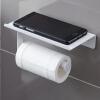 толстый стальной держатель для туалетной ткани Европа Yun Чул белый рулон туалетной бумаги коробка ткани лоток вмещает телефон