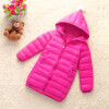цены на Girls Winter Light White Down Coat Kids Jacket Hooded Long Sections Children Clothes Receive Warm Parka Outerwear Snowsuit TZ148 в интернет-магазинах