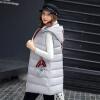 2017 осень и зима новые перья хлопка жилет женщин в длинный жилет корейской версии цвета с капюшоном куртки куртки куртки куртки arista куртки