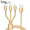 Кабель 3-в-1 Lightning, Micro USB, Type-C i-mu кабель mobiledata usb usb 3 1 type c 1 м белый