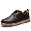вырез кожаную обувь, вдыхаемых случайные обувь, мужские ботинки