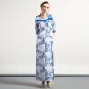 DF · RS Китайский ветряной жаккард улучшил cheongsam элегантные длинные платья женские сценические костюмы samsung rs 552 nruasl