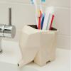 Держатель для зубной щетки для ванной комнаты для детей с детской коробкой настенный Антибактериальный милый дизайн, серый