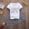 2pcs ясельного возраста девочки наряд с коротким рукавом футболку максимум + штаны, детская одежда костюм зара детская одежда основные футболку 03795601250