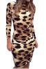 lovaru летнее платье 2015 женщин сексуально леопард без спинок длинные рукава платье - футляр летом печати в стиле летних стиль моды малого сексуально женщин от летних моды случайных плечо мини платье