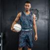 Новый положительный леопард печататься Джерси баскетбол одежды костюм мужские модели DIY тренировка персонализированные пользовательские заказа униформ костюмы спортивной баскетбольной одежды костюм
