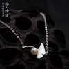 Luo Linglong s925 sterling silver ginkgo pearl bracelet simple personality temperament retro birthday Valentine's Day gift origina 925 sterling silver shining multiwire shaped women s bracelet