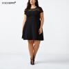 COCOEPPS Женское кружевное платье Большой размер Пэчворк платье Черные платья Повседневное платье Свободное сексуальное женское пл женское платье dn257