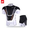 NUCKILY с коротким рукавом на велосипеде Джерси с силиконовым захватом и шортами спортивной одежды