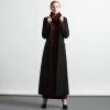 DF · RSЧерное шерстяное пальто 2017 осенне-зимнее новое длинное сечение Тонкое простое шерстяное пальто женская пальто katerina bleska