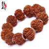купить Phase Yutang  Nepal9 nine big King KongBuddha beads hand string One thing one shot 24-25mmBeaded bracelethigh density дешево
