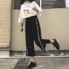 2017 новых студентов-женщин открытые вилки широкие штаны штаны случайные спортивные штаны