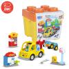 Звезда власти бой вставленные игрушки бой вставленные блоки головоломки игрушки интеллектуальной строительные блоки для детей сцены 35 комплектов 6002