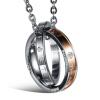 Мода Простые любовники Ювелирные изделия Титан Нержавеющие Круглые круглые подвески Ожерелье Крест Кольца Цепь Готические Цепочки