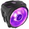 Охладитель (Cooler Master) T610P процессора с воздушным охлаждением радиатора (поддержка I9 2066, АМ4 / 6 Тепловая труба / 12см двойной поставщик вентилятора / 4 синхронизации RGB эффект освещения большая тарелка)