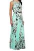 Lovaru ™ Vintage свободные шифон платья макси Печатные рукавов мыть пол долго плиссированные платья отдых
