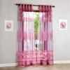 Purple Burnout Пряжа Тюль Шторы Роскошные 3D Voile Современные занавески для гостиной / спальни Decor Tulle Window Fabric Custom Made