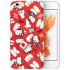 Hello Kitty Apple, 6 / 6с телефон оболочки iPhone6 / 6с мультфильма все включено защитный рукав силикона мягкая оболочка Выдерживает падение 4,7 дюйма красный хлопок конфеты Кэти apple чехол iphone6 5s 4s 5c hello kitty