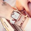 GUOU Простая мода Женские часы Женские повседневные кожаные кварцевые часы женские часы женские часы