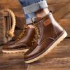 ретро - в британском стиле, платформы сапоги, мужские кожаные туфли кожаные сапоги