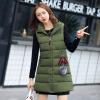 2017 осень и зима новые перья хлопка жилет женщин в длинный жилет корейской версии цвета с капюшоном куртки куртки куртки стандартные куртки