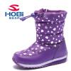 HOBIBEAR для девочек теплая детская зимняя обувь водонепроницаемые зимние сапоги Плюшевые модная обувь AW3753
