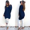 мода осень - зима платье женщины V - шея пускай трикотажные свитер Jumper Tops Dress Outwear Plus Size S-XL Ves платье прямое b young samar dress