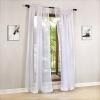 Дешевые белые тюлевые занавески для кухни Translucidus White Tulle Curtains для гостиной Современные белые шелка