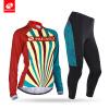 NUCKILY Женская одежда с длинным рукавом для велоспорта с палочкой для верховой езды Весна / осень