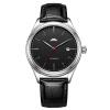 Пекин (Пекин) Часы для мужчин серии автоматического механических часов классического ремень водонепроницаемой черной лицом страны таблица моды смотреть Новый BG051510