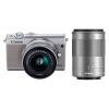 Canon (Canon) EOS M100 миниатюрный одиночный комплект головки Gray (EF-M 15-45mm) и (EF-M 55-200mm) ismartdigi lp e6 7 4v 1800mah lithium battery for canon eos 60d eos 5d mark ii eos 7d