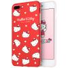 7/8 Plus Hello Kitty Apple, телефон оболочки iPhone7 / 8 Plus защитный чехол мультфильма все включено силикона мягкая оболочка Выдерживает падение 5,5 дюйма красный возлюбленная Hello Kitty *