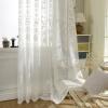 Европейские белые вышитые шумовые занавески Спальня Sheer Curtains для гостиной Tulle Window Шторы / Панели Окно Скрининг для гостиной