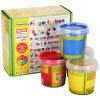 Европа воск воск 4-цветные детские игрушки, палец краской граффити набор краски (красный, желтый, синий, зеленый) Немецкий импорт детских игрушек для детей и легко чистить