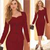 Lovaru ™ Работа 2015 Новая мода элегантные Женская одежда вечернее платье тонкий карандаш платье с длинными рукавами зимой платье