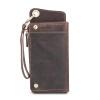 Dalfr Настоящая кожа бумажник Для мужчин Винтаж клатч коровьей держателя карты бумажник портмоне мужской длинные Бумажники Сумки д бумажник d