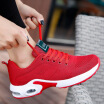Explosion models flying woven sports womens breathable cushioning air cushion shoes running shoes lightweight shoes