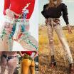 SUNSIOM Women High Waist Pant Waterproof PVC Plastic Pants Loose Long Trousers