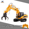 HUI NA TOYS 1571 114 24Ghz 16CH Remote Control Grab Loader Grapple Tractor Truck Construction Vehicle Engineering Toys