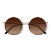 Millet MI gafas de sol TS marea Fan Mi hogar personalizado redondo retro marco doble haz de diseño plateado marco de metal lente de nylon