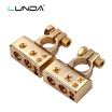 LUNDA Car battery jump Connector Battery Quick Disconnect Battery Terminal Connector with Caps Top Posts batteries