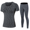 Yoga Set Workout Gym Clothes Running Pants Compression T-shirt yoga Sport Suits