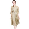 BURDULLY Fashionable Vintage Woman Dresses Big Size 2018 Long Summer Dress Luxury Designer Chinese Style Clothing Dresses