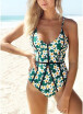 2018 Women One-Piece Swimsuit Floral Print Cut Out Back Swimwear Playsuit Jumpsuit Rompers