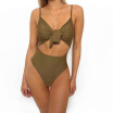 2018 New Swimsuit Push Up Women Vintage High Waist One Piece Swimsuit Lengthen the Body Swimwear